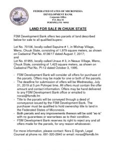 thumbnail of July 31 2019 Chuuk land sale notice