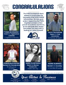 thumbnail of 2019 FSMDB Scholarship recipients